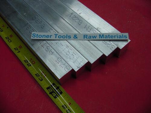"5 Pieces 3//4/""x 3//4/"" ALUMINUM 6061 SQUARE FLAT BAR 24/"" long T6511 New Mill Stock"