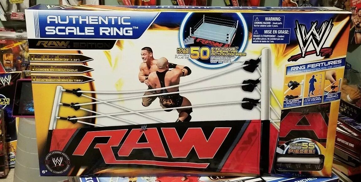 WWE AUTHENTIC SCALE RING Raw Edition  22  x 22  WWF NEW