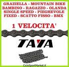 Catena bicicletta bici Graziella - MTB - R - Vintage 1 Velocità + Falsa Maglia