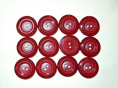 Lot of 12 Lidz Brothers 60s VTG CANDY APPLE RED COLOR BUTTONS 20 mm 13//16/""
