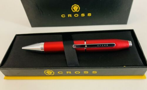 Cross X Series Rollerball Pen Crimson Red Selectip New in Gift Box AT0725-3
