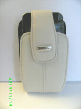 PEARL WHITE LAMBSKIN LEATHER SWIVEL HOLSTER CASE SUITABLE FOR iPHONE 4/4S