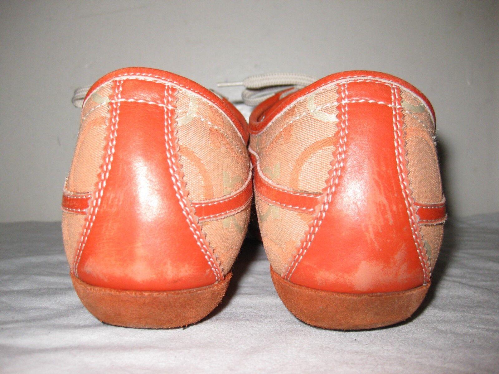 Salvatore Ferragamo Orange schuhe Turnschuhe Woman's Größe 8 8 8 C 639639