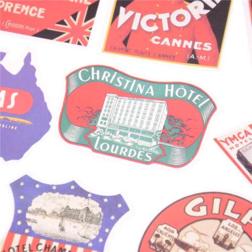 55X Retro Style Travel Hotel Logo Stickers Trip Luggage/'Waterproof/'Sticker ToyXB