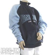 NEW Boys / Girls Age 13 Lonsdale Fleece Line Zip Up Sweatshirt Sky Blue RUN.152