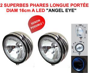 PROMO-2-SUPER-PHARES-16CM-A-LED-TYPE-LIGHTFORCE-HELLA-OSCAR-XENON-POSSIBLE