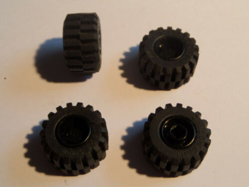 4x LEGO 6014bc01 GOMME 11 D CERCHIO NERO Technic 6014b 6015 4186598 x 12 M