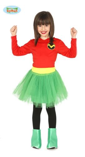 GUIRCA Costume vestito Robin girl supereroe carnevale bambina mod 8322/_