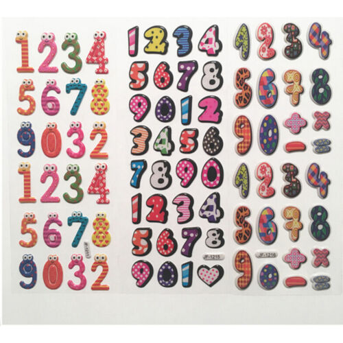 10X Numbers Stickers For Baby Toy3D Stickers Preschool Educational Toy StickerSK
