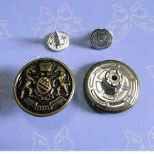 10 NO-SEW Large Metal Brass Snaps Tack Press Jacket Jean Buttons 20mm Size L G58