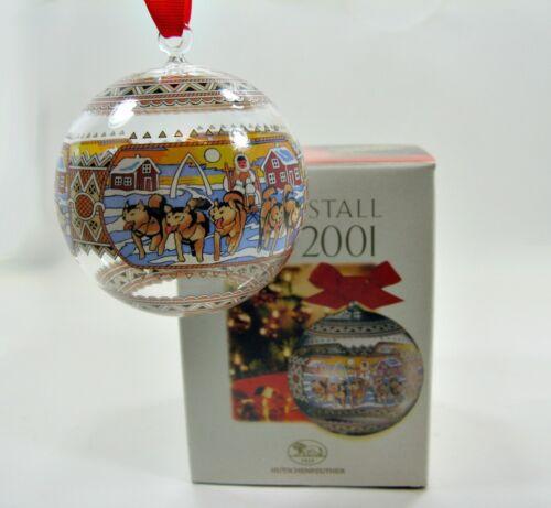 Weihnachtskugel Kristall Grönland von 2001 Hutschenreuther 39