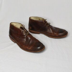 Sebago-Tremont-Dark-Brown-Leather-Chukka-Boot-Men-s-Size-9D-Shoe