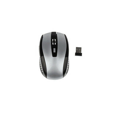 Mouse for Mice + USB Cordless Wireless Laptop Receiver 2.4GHz Optical PC