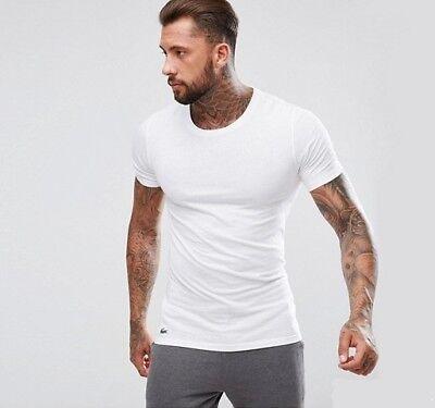 eb3c35000f Lacoste 100% Supima Cotton Men's White Crew Neck Slim Fit Undershirt ...