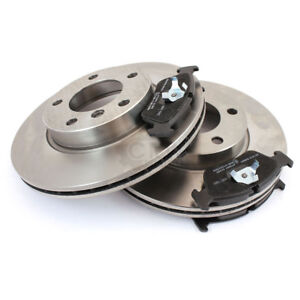 Brake-Discs-Pads-Front-for-Mitsubishi-Carisma-Notchback-There