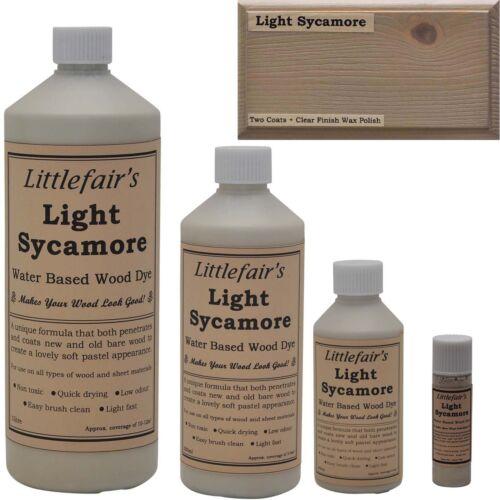 Littlefair/'S Base De Agua Rústico Shabby Chic De Madera Mancha y tinte-Luz Sycamore