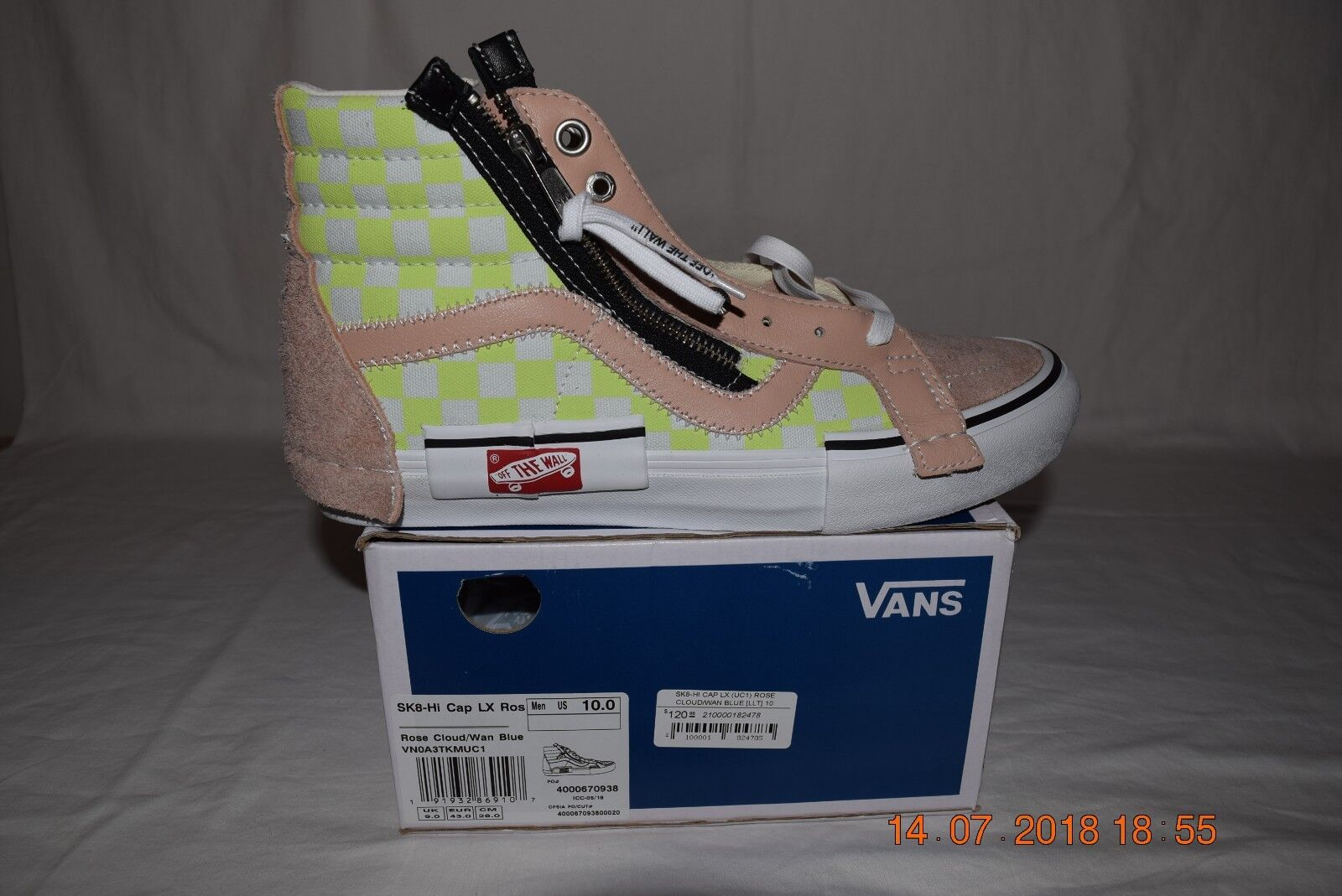 Vans Vault SK8-HI Cap LX Rose Cloud Wan Bleu Sz 10 patineurs Rule