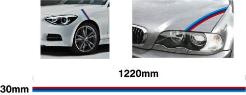 Car decal graphic M3 sport E30 E36 E46 E90 330 318 320 Small BMW M Stripe 30mm