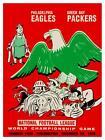 Philadelphia Eagles vs Green Bay Packers *LARGE POSTER* 1960 Football SUPER BOWL