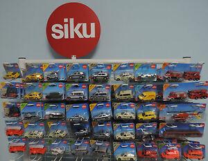 Siku-seleccion-de-Cars-autos-como-policia-bomberos-taxi-camion-carretillas-elevadoras-van