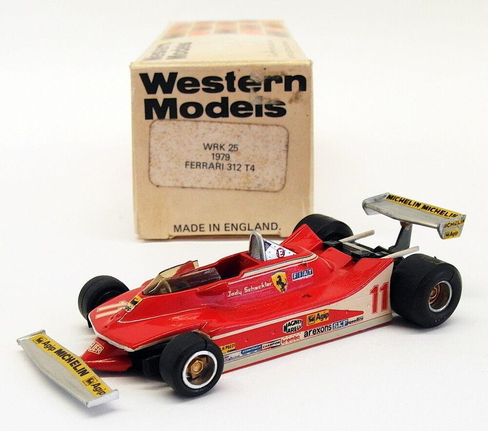 Western models 1 43 scale wrk25-f1 ferrari 312 t4 racing car