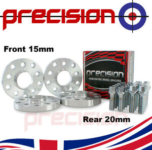 Staggered Wheel Spacers 15/20mm + Bolts Nuts for Aftermarket Seat Leon Alloys