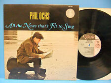 Phil Ochs All The News That's Fit To Sing 1986 NM Record Carthage CGLP 4427 Folk