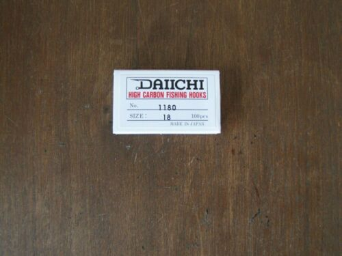 Fly Tying Daiichi 1180 Dry Fly Hooks Mini Barb size #18-100 count box
