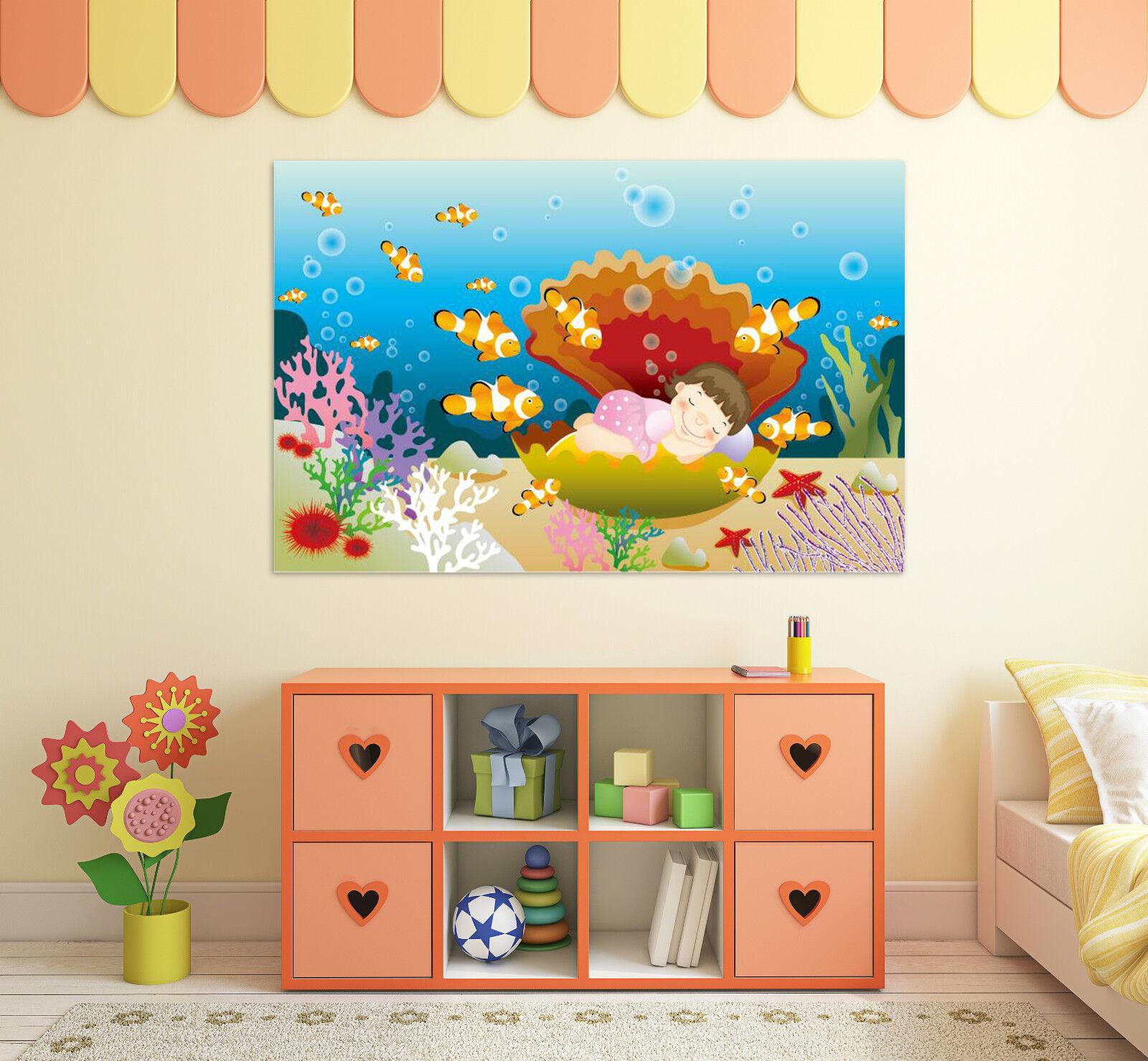 3D Fisch Schwimmen Fototapeten Wandbild Fototapete BildTapete Familie AJSTORE DE