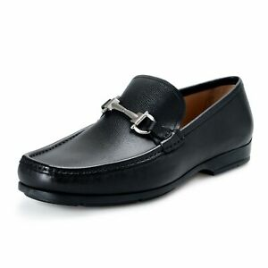 Salvatore-Ferragamo-034-Gerolamo-3cm-034-Men-039-s-Pebbled-Leather-Loafers-Slip-Ons-Shoes