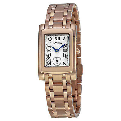 Invicta ANgel Silver Dial 18kt Rose gold Ion-plated Ladies Watch 15625