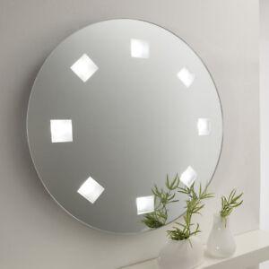 Spiegel Wandspiegel Rund O 55 Cm Badspiegel Led Beleuchtung