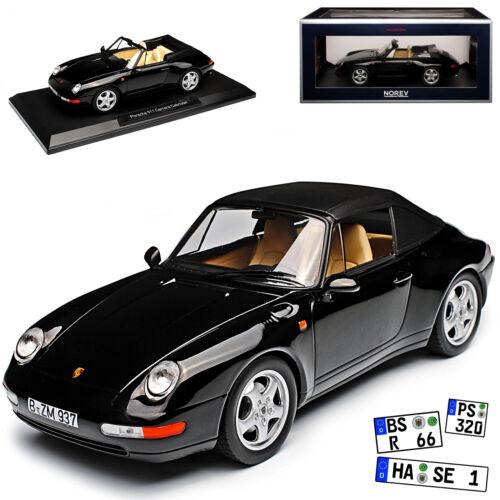 Porsche 911 993 Cabrio Schwarz 1993-1998 1//18 Norev Modell Auto mit oder ohne in