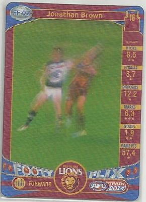 Sports Mem, Cards & Fan Shop Qualified 2014 Teamcoach Brisbane Lions Jonathan Brown Footy Flix Ff02 Card Free Post To Have A Unique National Style
