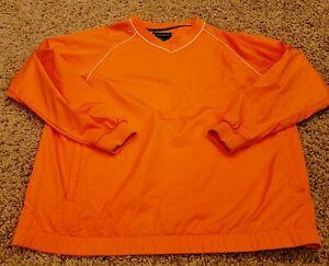 FootJoy FJ Men's Bright Orange Golf Pullover Large