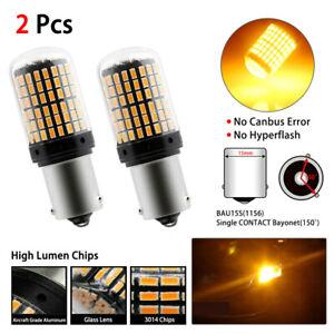 Lamparas-PY21W-LED-Intermitencia-nuevas-Canbus-BAU15S-1156-144smd-Chip-3014