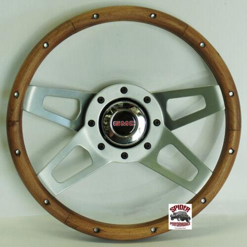 """70-73 Jimmy Suburban GMC pickup steering wheel 13 1//2/"""" Walnut 4 Spoke"""