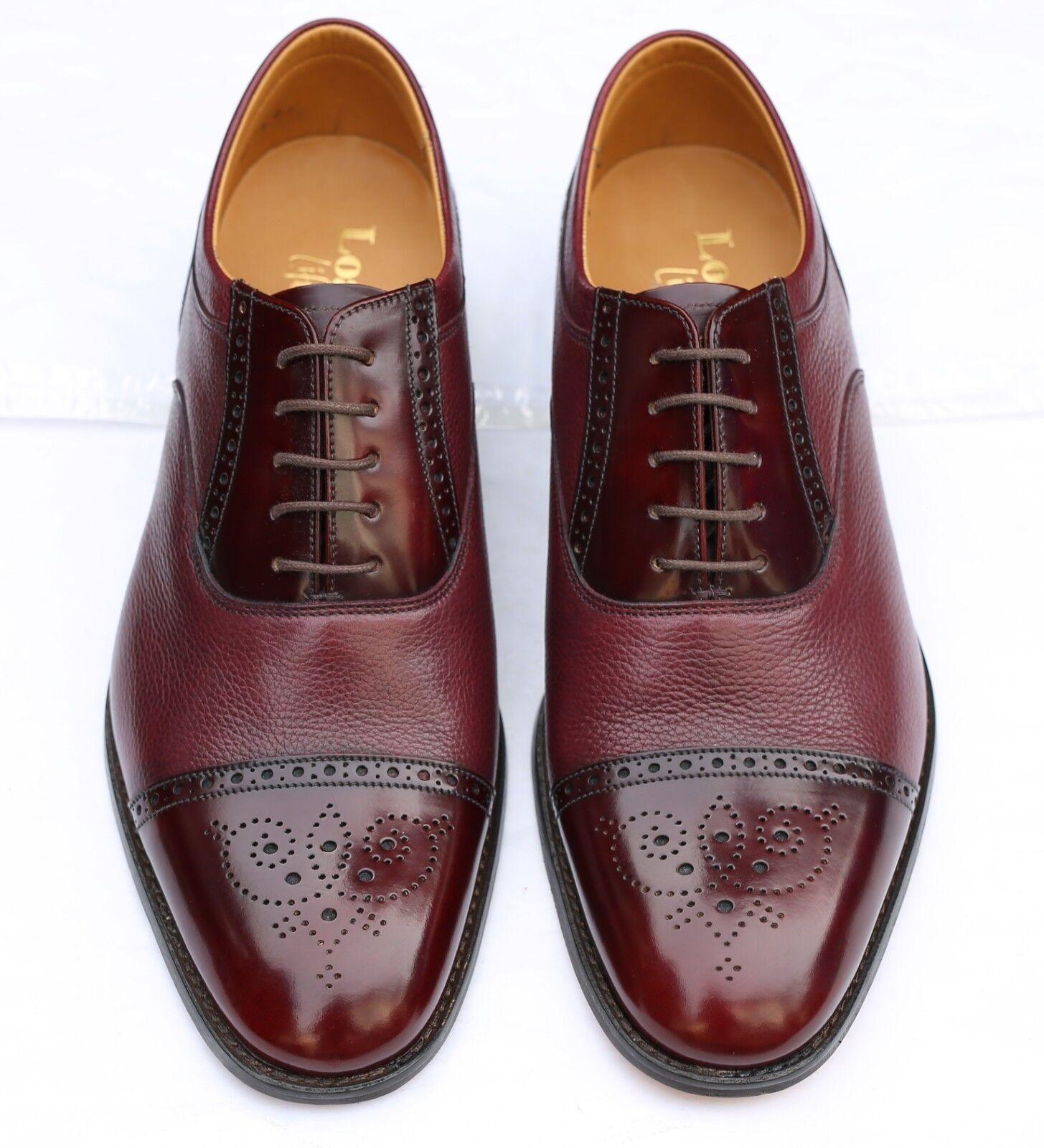 Nuevo Loake 'Woodstock' Borgoña Oxford Cuero Zapatos 7.5 Reino Unido 41.5 UE-G