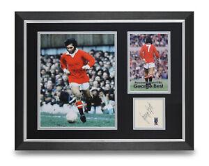 George-Best-Signed-16x12-Framed-Photo-Display-Man-Utd-Autograph-Memorabilia