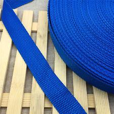 Free shipping 5Yards Length 1 Inch (25mm)Strap Nylon Webbing Strapping Blue