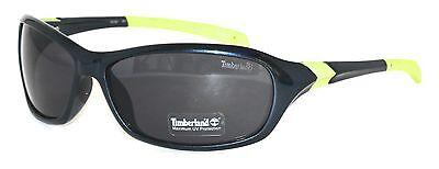 Timberland Sunglass Mens Black Rectangle Plastic Smoke Gradient Lens TB7057 1B