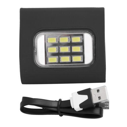 LED Safety Light Clip On Lightweight Portable USB Charging Night Running Light