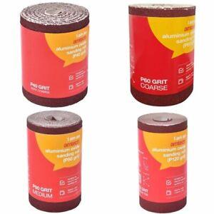 Rollo-de-lija-de-oxido-de-aluminio-5m-rojo-grano-40-60-80-120-Papel-de-Lija-Arena-de-carpinteria