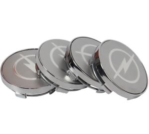 OPEL-Silber-Silver-Nabenkappen-Felgendeckel-Allufelgen-Wheel-Cap-4-x-60mm