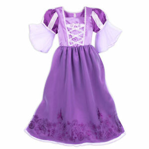 f0de3966ce Image is loading DELUXE-Princess-RAPUNZEL-RIBBONS-PURPLE-METALLIC-Nightgown- NWT-