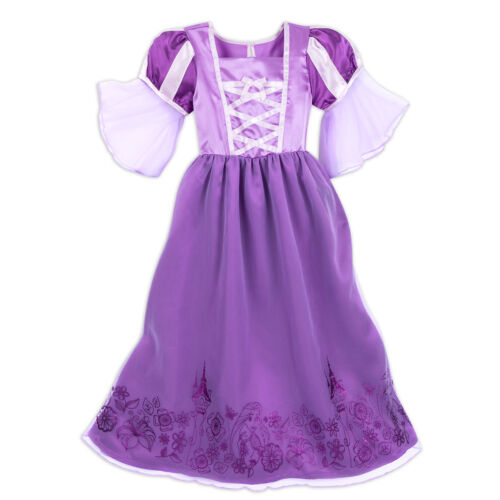 DELUXE~Princess~RAPUNZEL~RIBBONS=PURPLE METALLIC~Nightgown~NWT~Disney Store~2018