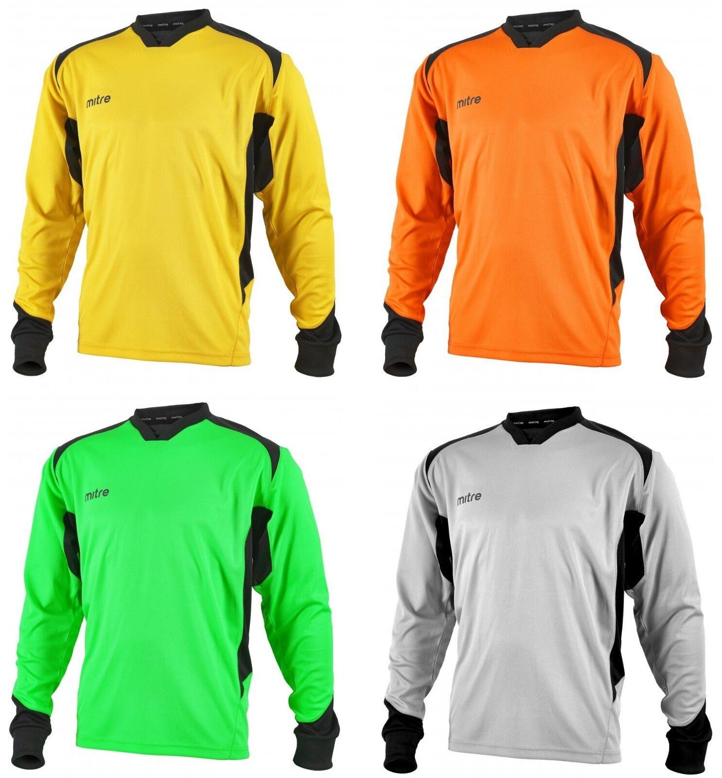 Mitre Futbol Manga Larga objetivo Keeper Camiseta Arquero defensa Portero Jersey