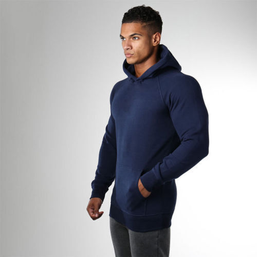 Winter Men Hot Gym Sport Hoodies Solid Sport Sweatshirt Pullover Outwear Clothes
