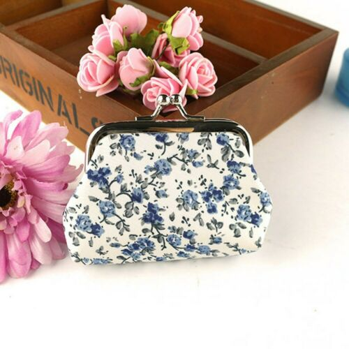 Multi Color Cute Floral Print Flower Women Coin Change Purse Wallet Cloth New!!!