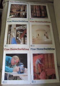 Fine Homebuilding Back Issues Magazines Lot of 6 Entire Year 1989 DIY Remodeling
